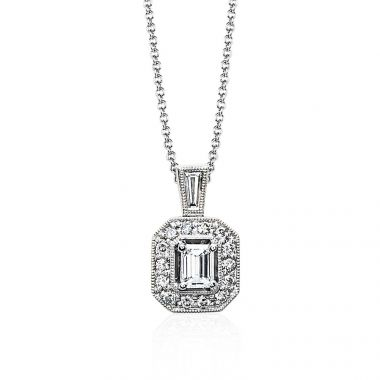 Simon G 18k White Gold 0.45ct Diamond Pendant