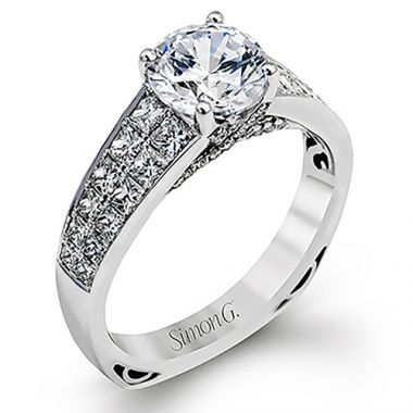 Simon G. 18k White Gold Engagement Ring