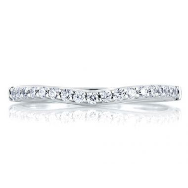 A. Jaffe 18k White Gold Shared Prong Diamond Wedding Band