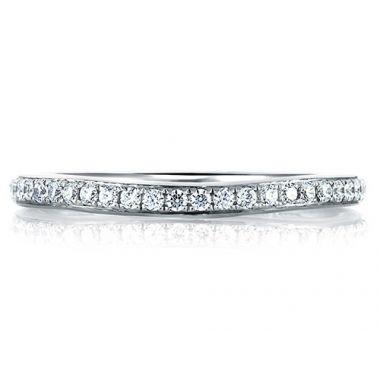 A. Jaffe 18k White Gold Classic Pave Signature Diamond Wedding Band