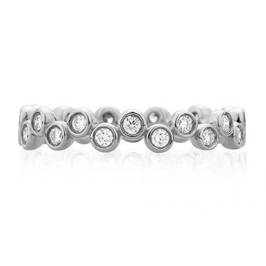 A. Jaffe 18k White Gold Modern Bubble Diamond Wedding Band