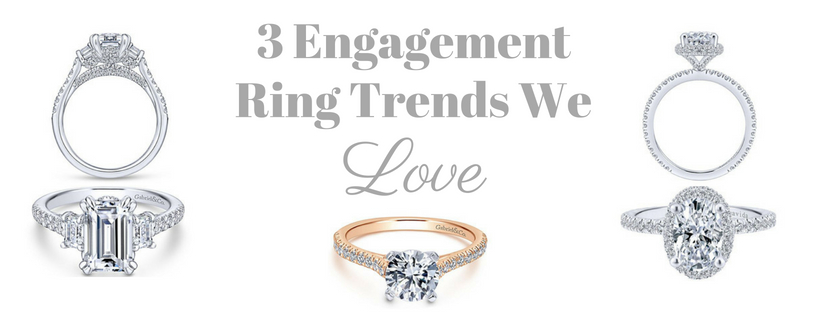 3 Engagement Ring Trends We Love