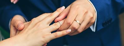 Why is the wedding ring worn on the left hand?