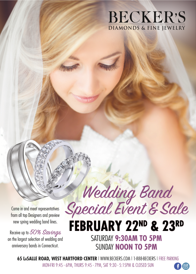 Wedding Band Special Event & Sale, Feb. 22 & 23
