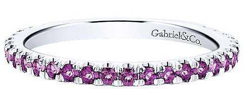 Gabriel & Co. Amethyst Stackable Ring