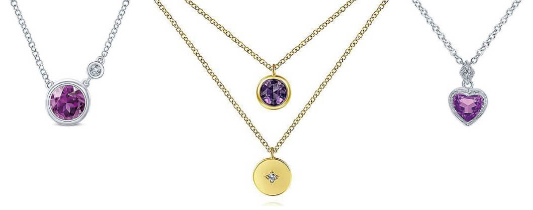 Gabriel & Co. Amethyst Birthstone Necklaces
