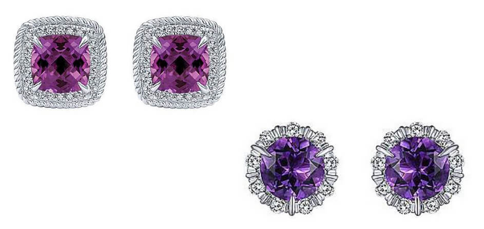 Gabriel & Co. Amethyst Stud Earrings