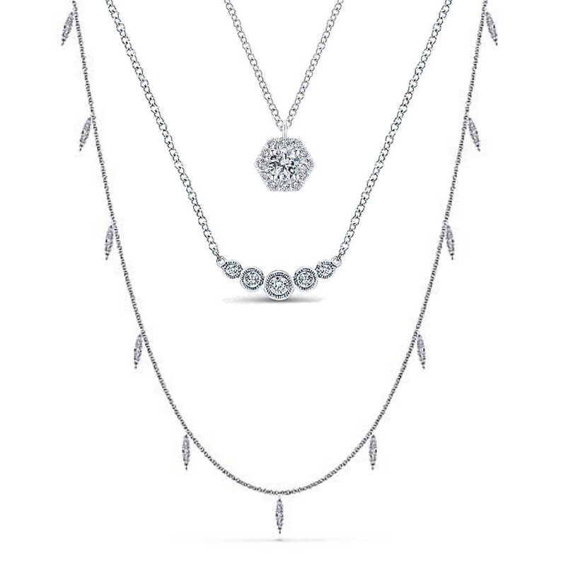Gabriel & Co. Diamond Fashion Necklaces