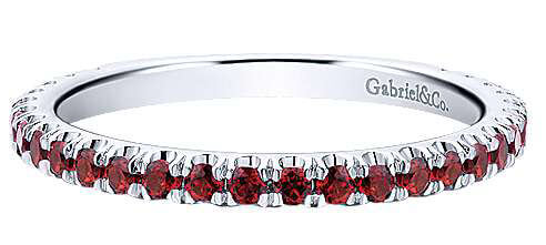 Gabriel & Co. Garnet Stackable Ring