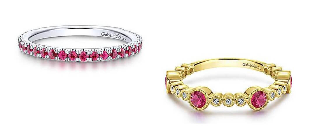 Gabriel & Co. Ruby Stackable Rings