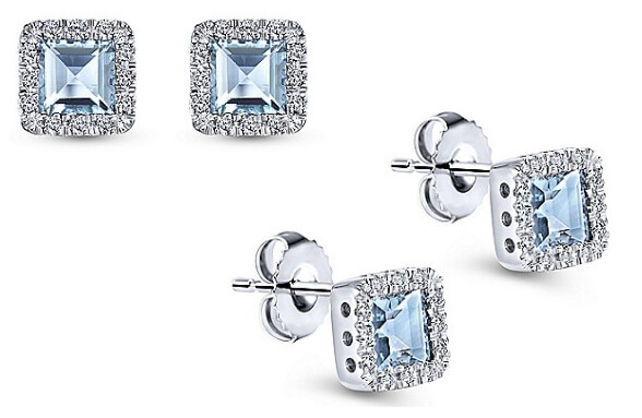 Gabriel & Co. Aquamarine Stud Earrings