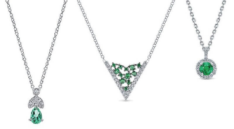 Gabriel & Co. Emerald Necklaces