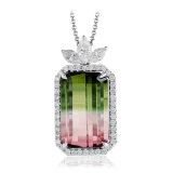 Simon G.Watermelon tourmaline necklace