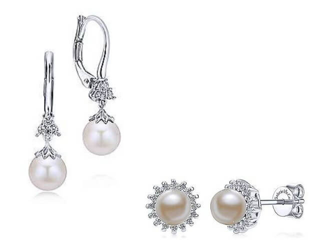Gabriel & Co. Pearl Earrings