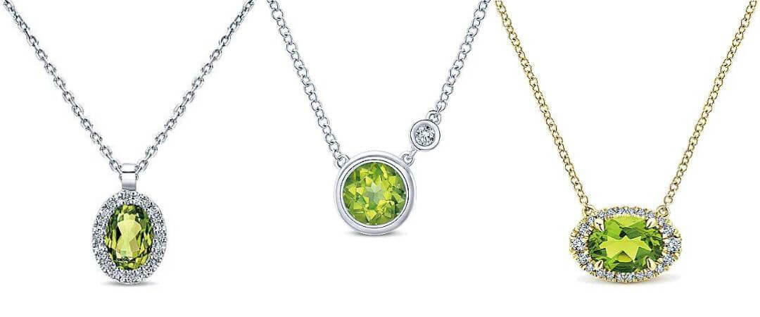 Gabriel & Co. Peridot Necklaces