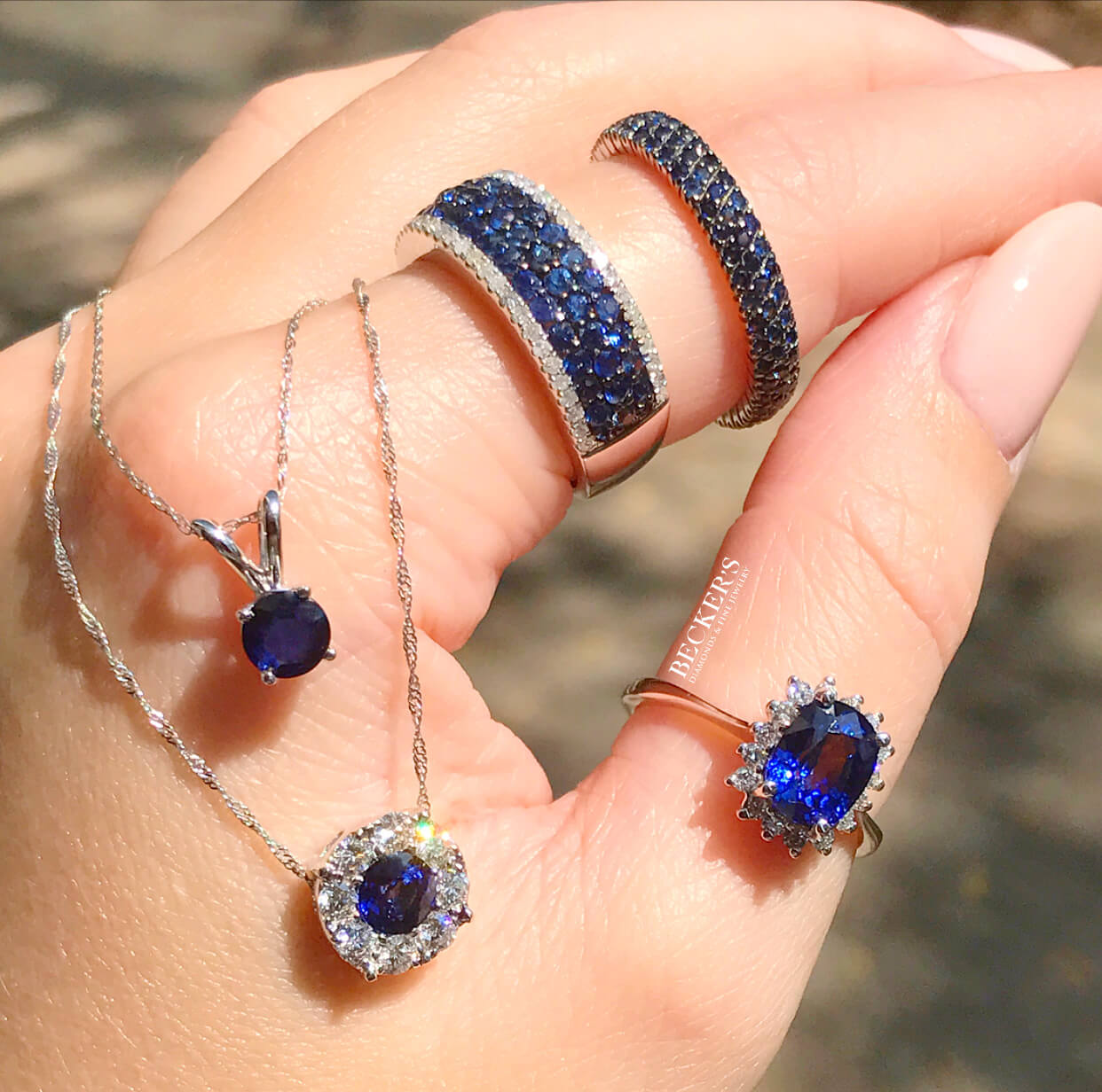 Sapphire Rings and Pendants