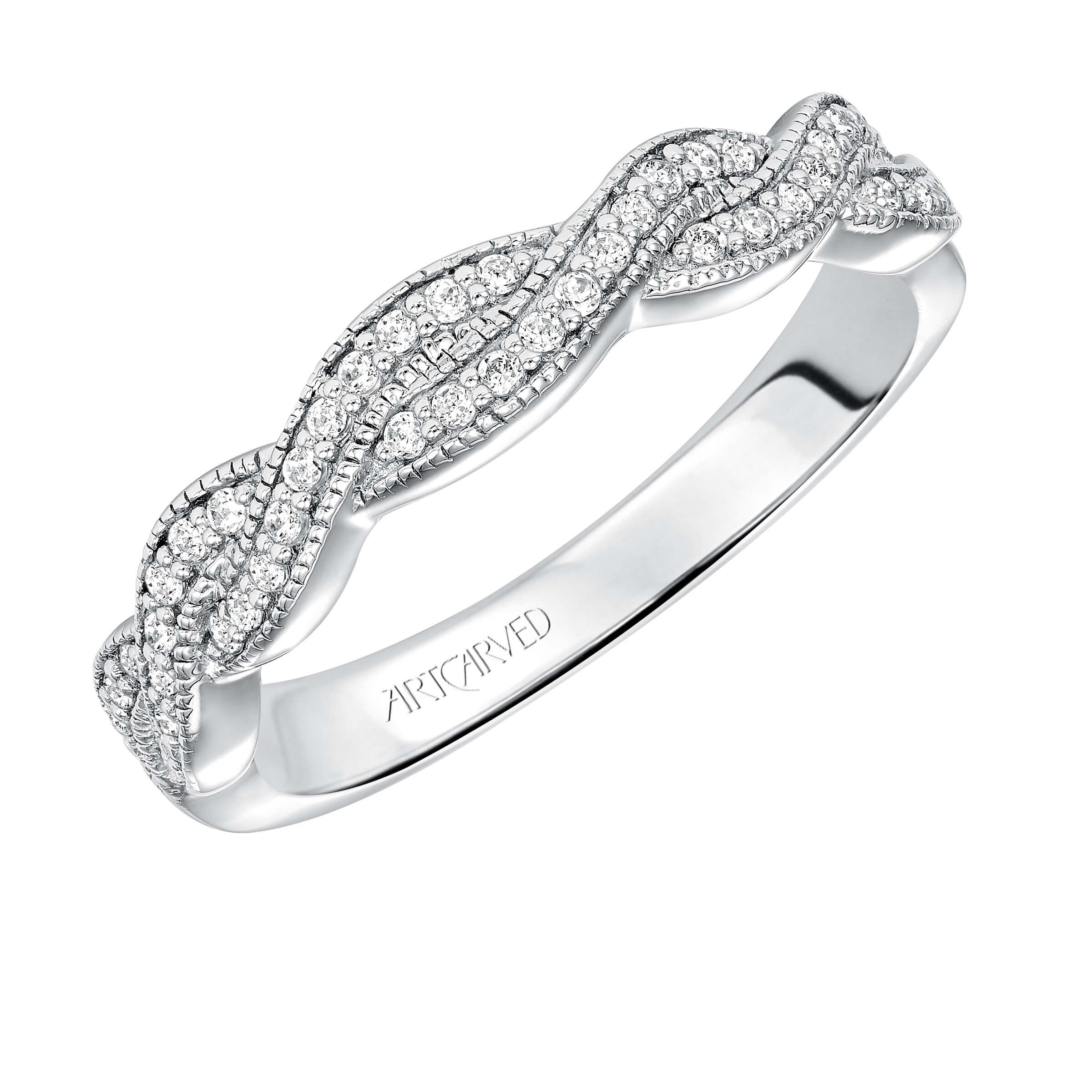 ArtCarved twist diamond band
