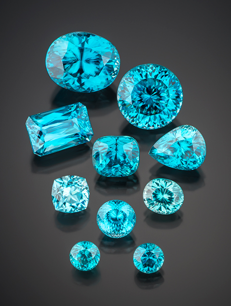Blue Zircon photo credit: GIA