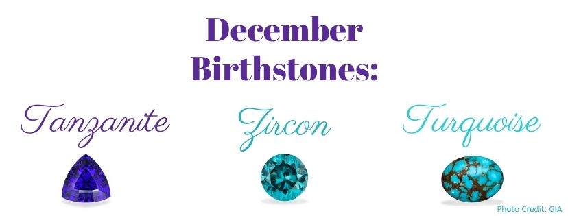 December Birthstones photo credit: GIA