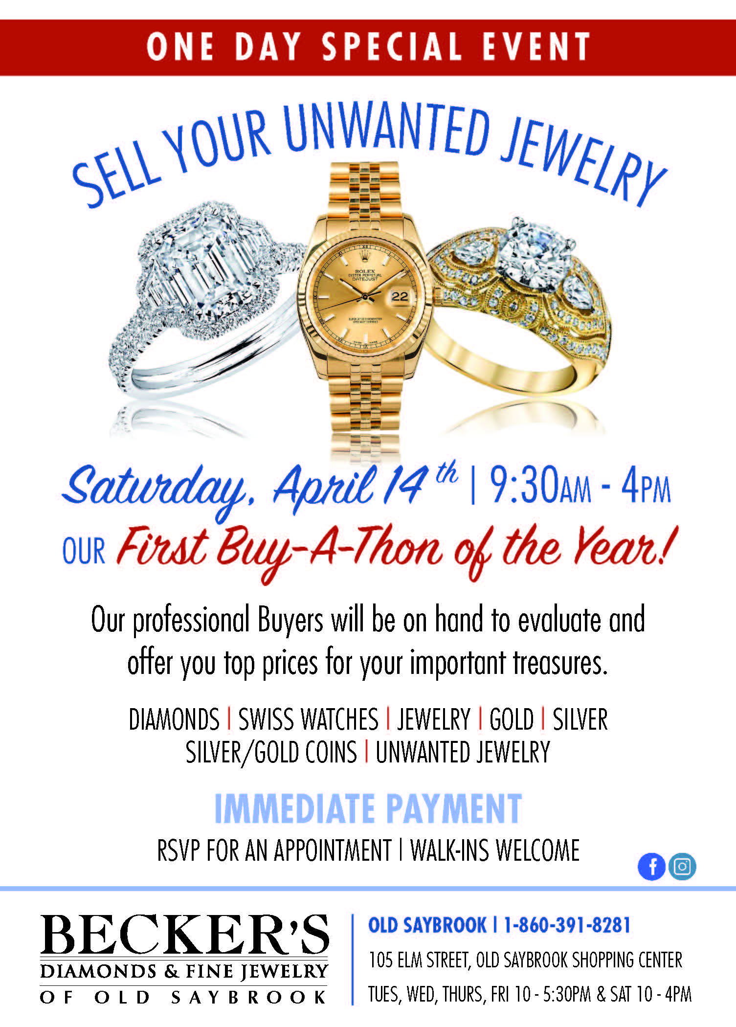 old saybrook buy-a-thon saturday, april 14th 2018