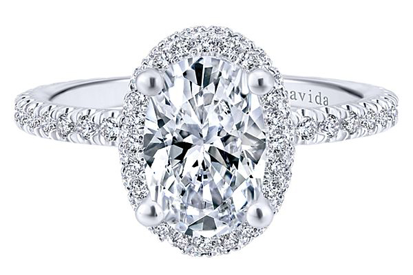 Gabriel & Co Oval Engagement Ring  ER12907O6W83JJ