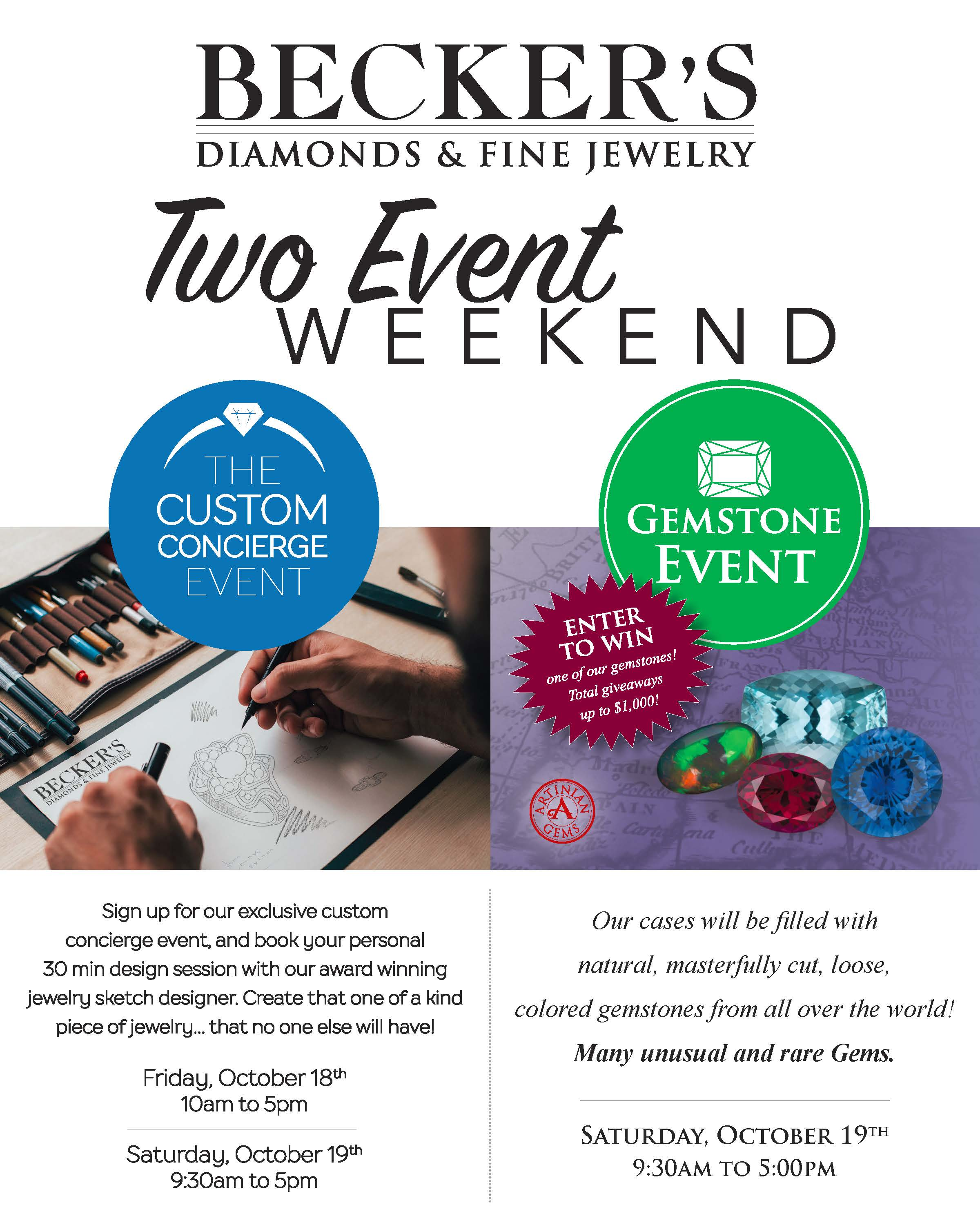 Custom Design Two Event Weekend October 18th and 19th 2019