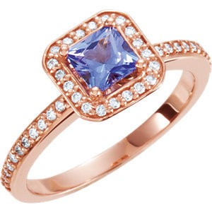 rose gold tanzanite ring