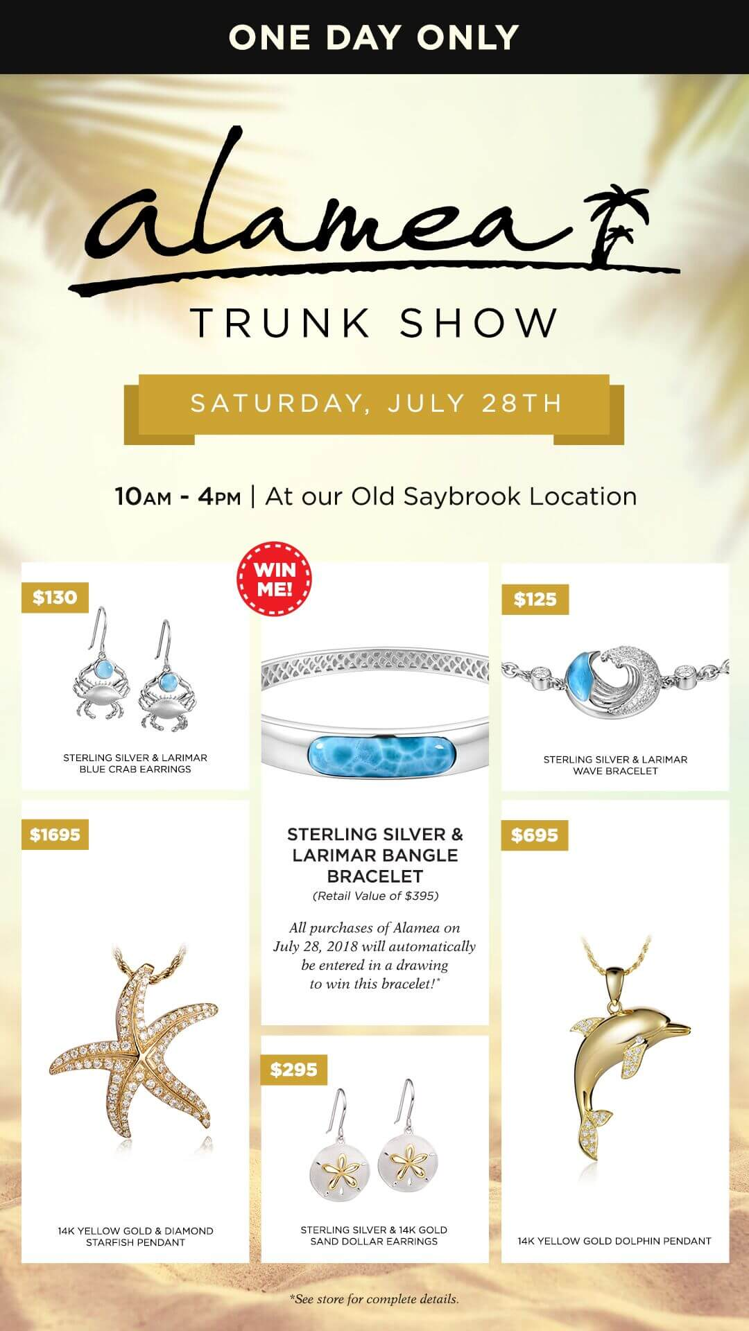 Alamea Trunk Show July 28th in Old Saybrook