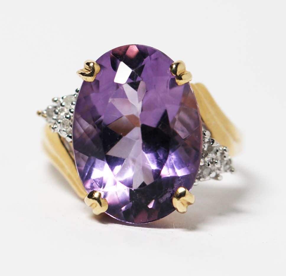 amethyst estate ring