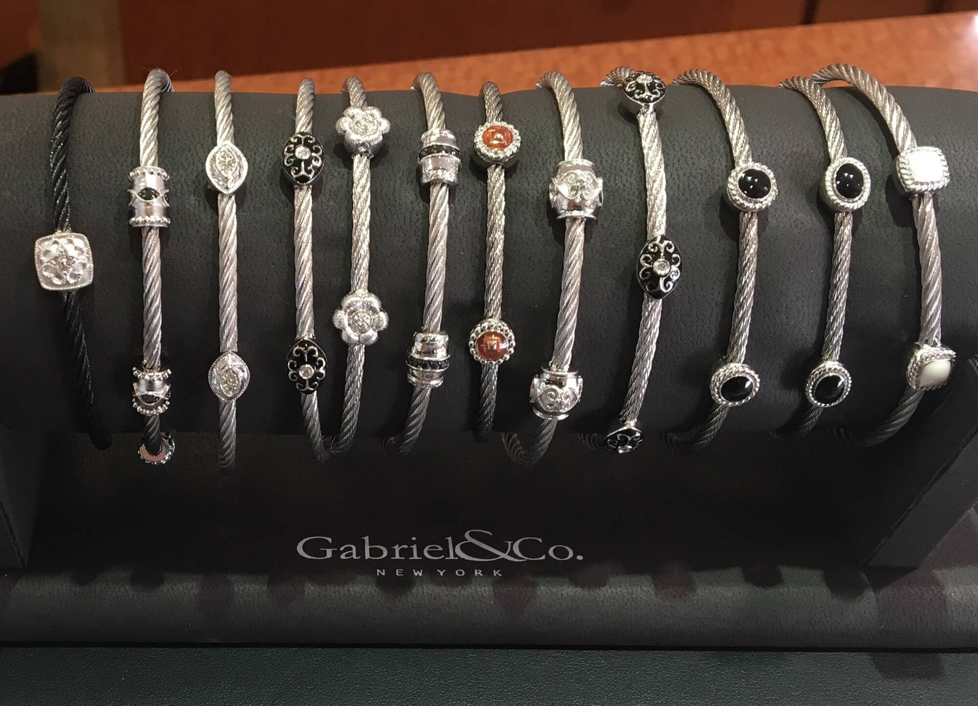 colored gem bands by Gabriel & Co.